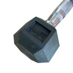 Hexagon Hantel gummiert mit ergonomisch geformtem Griff
